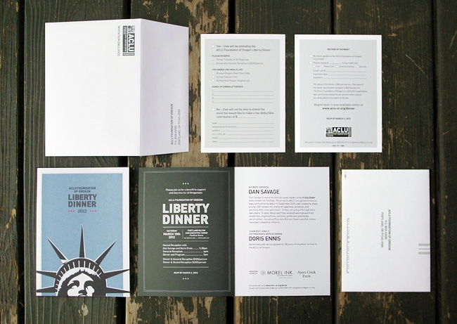 ACLU invite and reply card